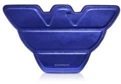 Emporio Armani Women's Blue Leather Shoulder Bag.