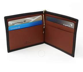 Royce Leather Royce RFID Blocking Genuine Leather Double ID Bifold Wallet - Black and Tan