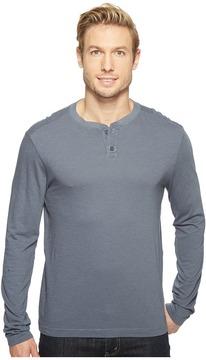 Agave Denim Cliff Long Sleeve Henley Slub Stripe Men's Long Sleeve Pullover