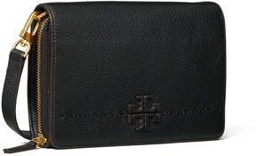 Tory Burch MCGRAW FLAT WALLET CROSS-BODY - BLACK - STYLE