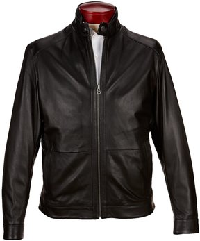 Roundtree & Yorke Lightweight Lambskin Leather Jacket