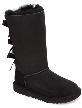 UGG Girl's Bailey Bow Tall Ii Water Resistant Genuine Shearling Boot