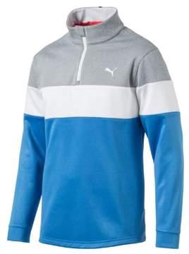 Puma PWRWARM 1/4 Zip Golf Popover French Blue/Medium Grey Heather XL
