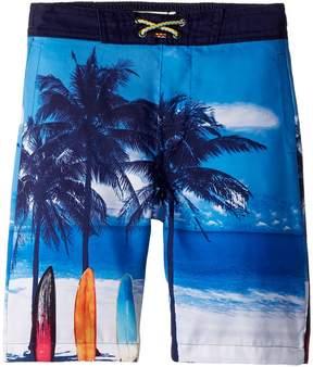 Appaman Kids Scenic Beach Swim Trunks Boy's Swimwear