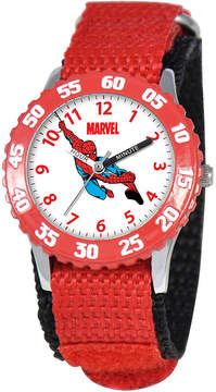 Marvel Spiderman Time Teacher Kids Red Fast Strap Watch