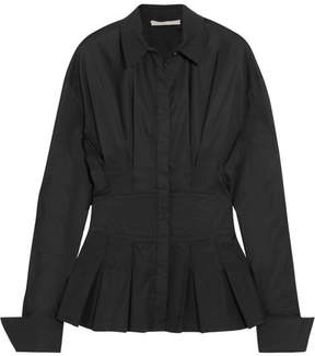 Antonio Berardi Pleated Cotton-blend Shirt - Black