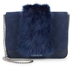 Loeffler Randall Women's Faux Fur Lock Shoulder Bag