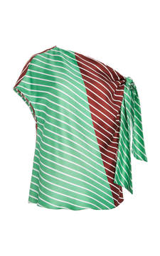 Tibi Asymmetrical Tie Top