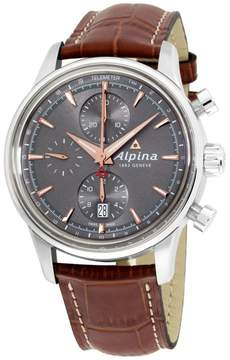 Alpina Alpiner AL750VG4E6 Grey Dial Leather Strap 41mm Mens Watch
