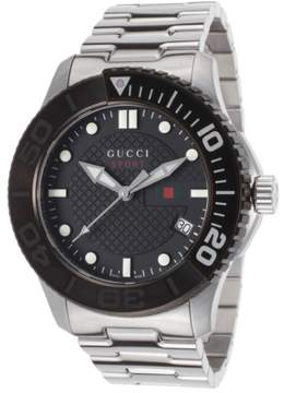 Gucci Men's G-Timeless Stainless Steel Black Dial