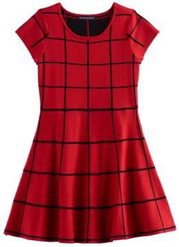 My Michelle Girls 7-16 Patterned Knit Sweater Skater Dress