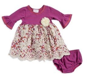 Iris & Ivy Baby Girl's Embroidered Dress and Bloomers Set