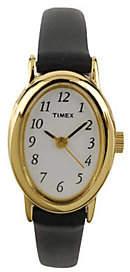 Timex Ladies Fashion Cavatina Watch with BlackLeather Strap