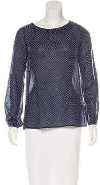 Band Of Outsiders Patterned Long Sleeve Top