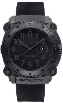 Hamilton Men's Khaki Belowzero Automatic Rubber Strap Watch, 46Mm