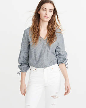 Abercrombie & Fitch Striped Peasant Top