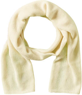 Portolano Women's White Cashmere Scarf