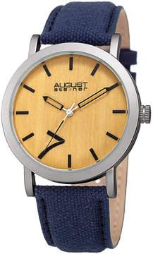 August Steiner Mens Blue Strap Watch-As-8238bu