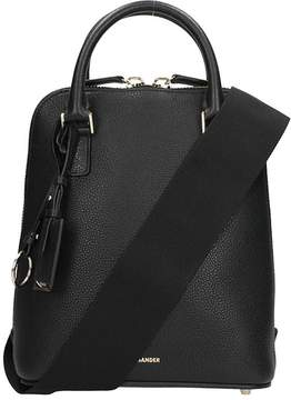 Jil Sander Black Grained Leather Nicandro Bag