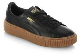 Puma Basket Leather Lace-Up Sneakers