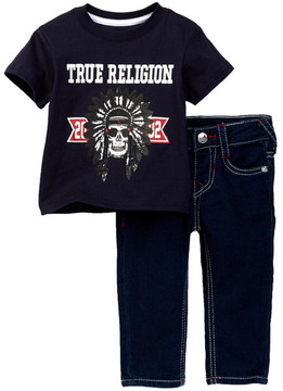 True Religion TR Native Tee & Jean Set (Baby Boys)