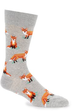 Hot Sox Foxes Crew Socks
