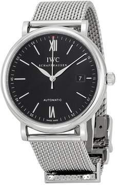 IWC Portofino Black Dial Stainless Steel Men's Watch
