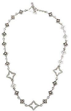 David Yurman Diamond Quatrefoil Choker Necklace