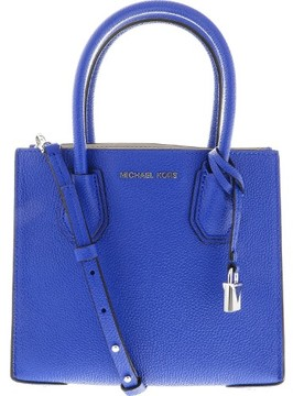 Michael Kors Women's Medium Mercer Bonded Leather Tote Shoulder Bag - Electric Blue - ELECTRIC BLUE - STYLE