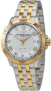 Raymond Weil Tango White Dial Men's Two Tone Watch