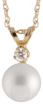 Bella Pearl 14K Gold Sliding Chinese Akoya Pearl Diamond Pendant