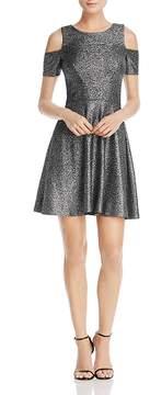 Aqua Metallic Cold-Shoulder Dress - 100% Exclusive