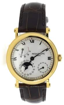 Patek Philippe 5054J 18K Yellow Gold & Leather Automatic 36mm Mens Watch