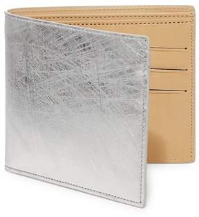 Maison Margiela Men's Scratched Metallic Leather Bifold Wallet