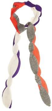 Missoni Scallop-edged fine-knit scarf