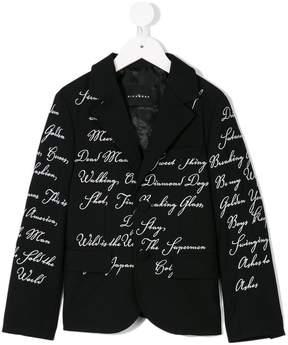 John Richmond Kids graphic-print blazer
