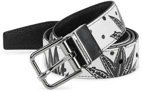 Dolce & Gabbana Men's Reversible Printed Leather Belt