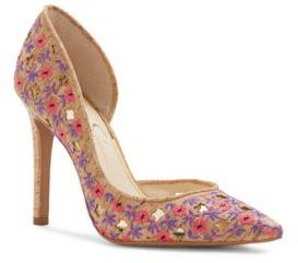Jessica Simpson Claudette Embroidered Stilettos