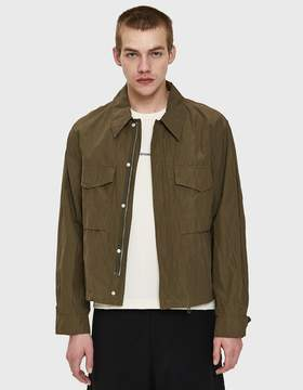 Our Legacy Crop M51 Jacket in Olive Metallic Nylon