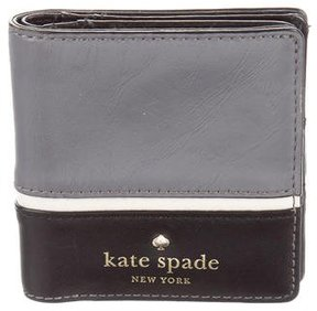 Kate Spade Leather Compact Wallet - GREY - STYLE