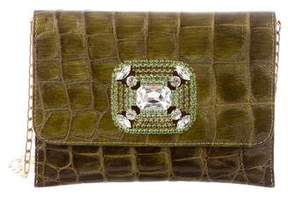 Carlos Falchi Fatto a Mano by Embossed Patent Leather Clutch