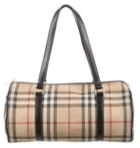 Burberry Nova Check Bowler Bag - BROWN - STYLE
