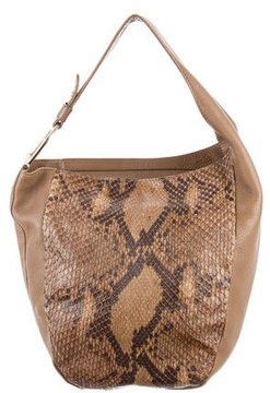 Gucci Python Medium Greenwich Hobo - BROWN - STYLE