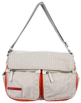 Prada Sport Quilted Nylon Messenger Bag