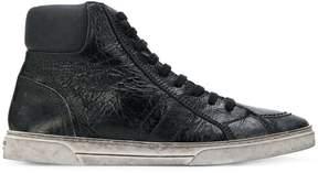 Saint Laurent Joe textured mid-top sneakers