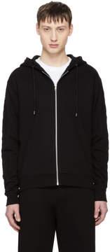 McQ Black Repeat Logo Zip Hoodie