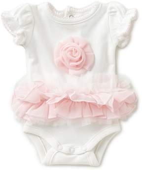 Edgehill Collection Baby Girls Preemie Rosette-Tutu Bodysuit