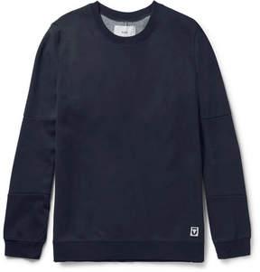 Folk Elbow-Patch Cotton-Blend Jersey And Shell Sweatshirt