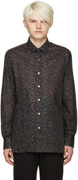 Lanvin Black Print Shirt