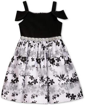 Sweet Heart Rose Toddler Girls Cold Shoulder Floral-Print Dress